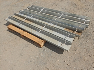 Qty of 6 x Galvanised Channel Lengths