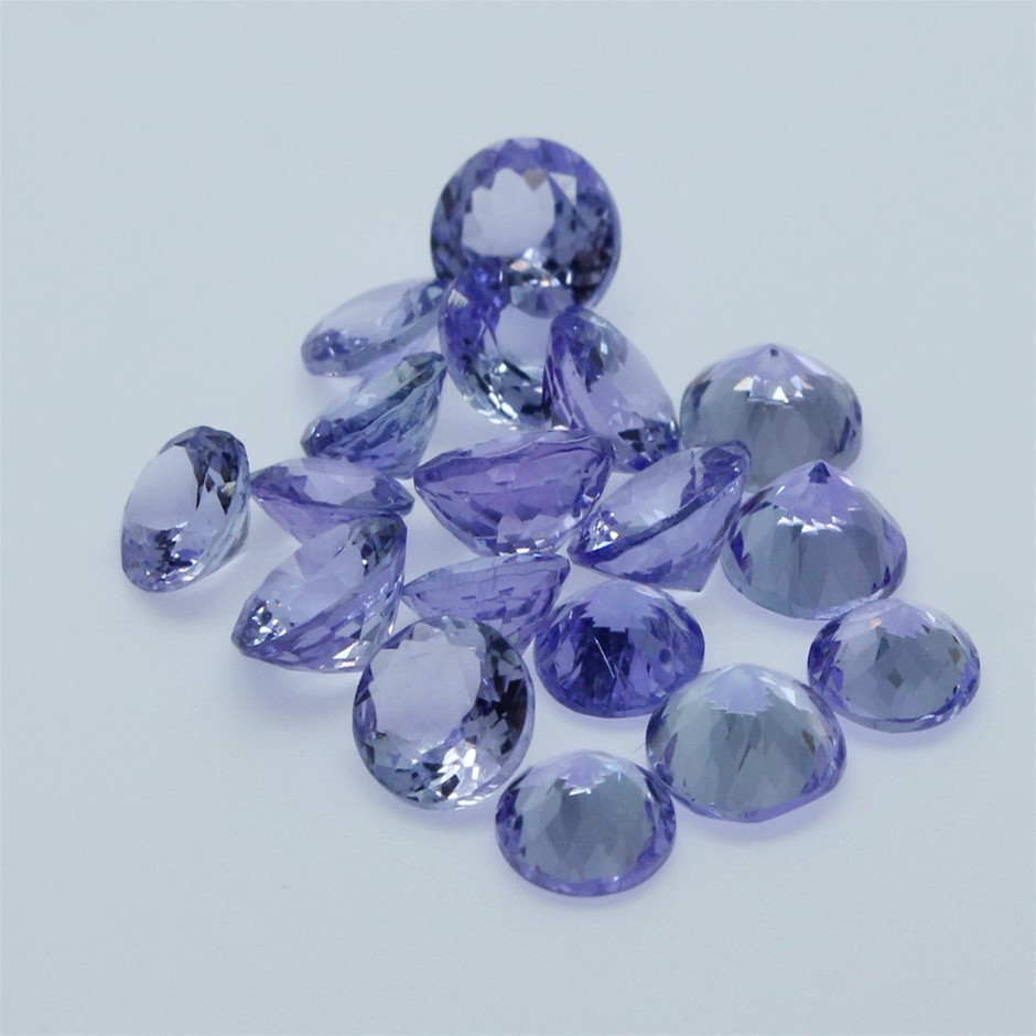Eighteen Loose Tanzanite, 15.10ct in Total
