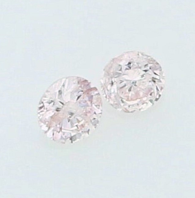 0.036ct (2pcs) Pink Diamond