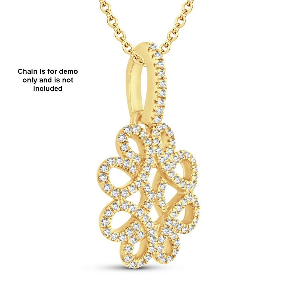 9ct Yellow Gold, 0.15ct Diamond Pendant