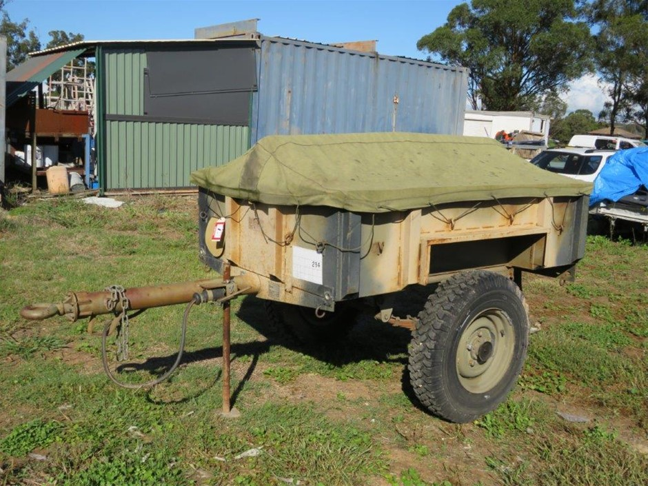 B>Single Axle Cargo Trailer, Australian No.5, Half Tonne. 12/1981