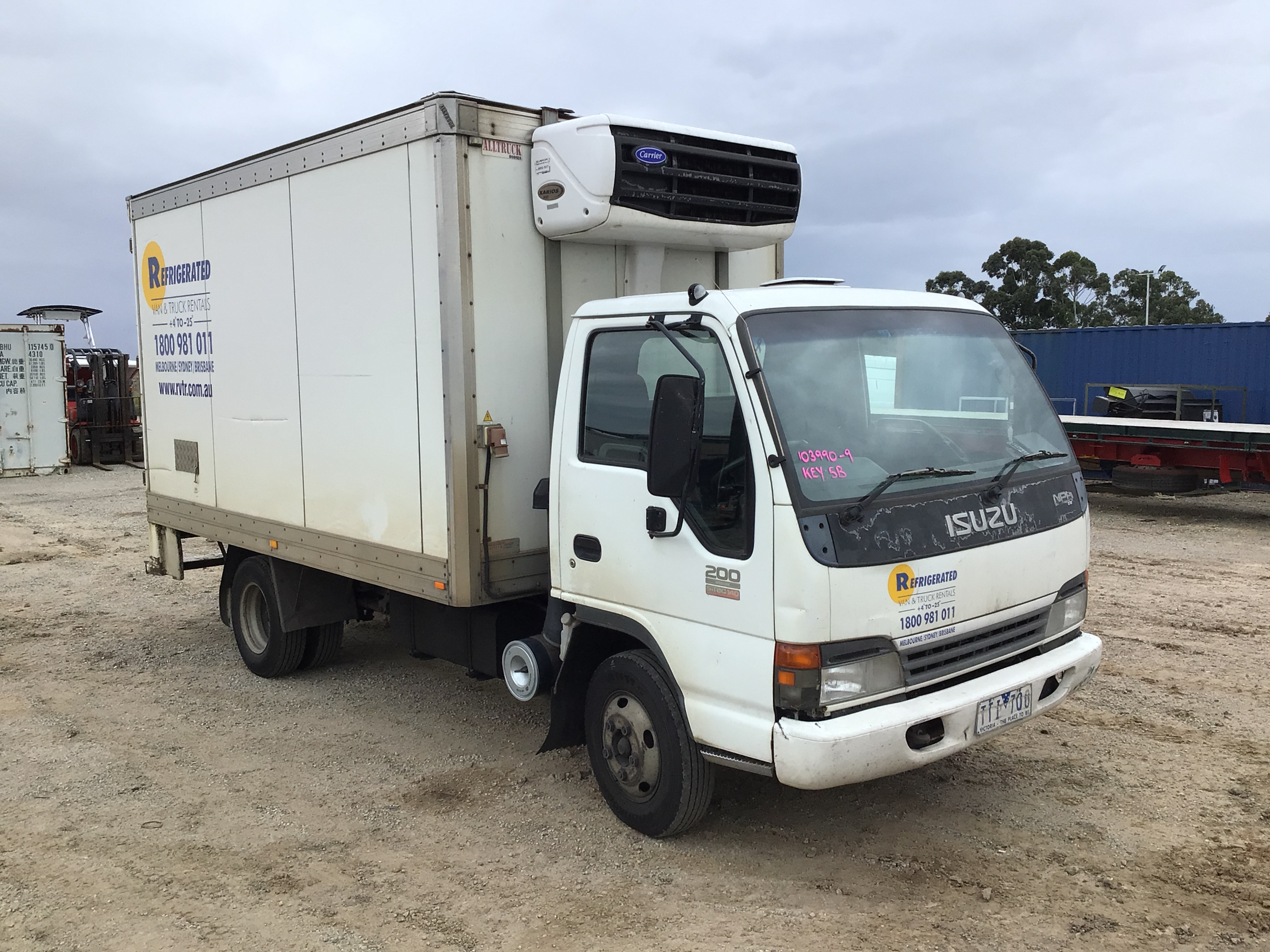 2005 Isuzu NPR 200 Medium 4 x 2 Refrigerated Body Truck