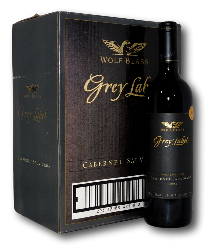 Wolf Blass Grey Label Cabernet Sauvignon 2002 (6 x 750mL), Langhorne Creek