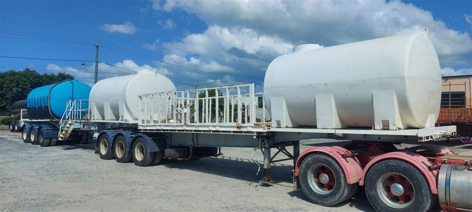 Haulmark & Kruger B Double Combination Flat Top Trailers - 35,000L Cartage