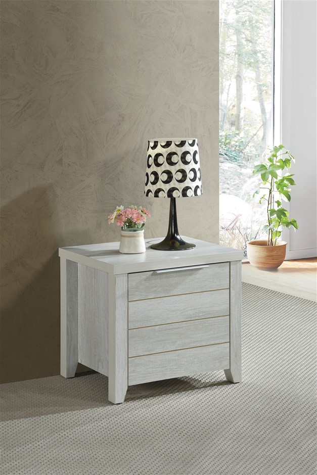 Traditional elegance meets modern charm with the Alice Bedside Table