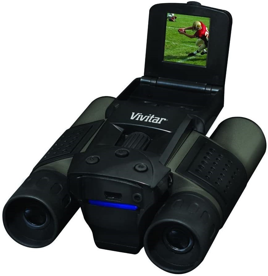 VIVITAR 8MP 12 x 25mm 2-in-1 Binoculars and Digital Camera, Black. Model VI