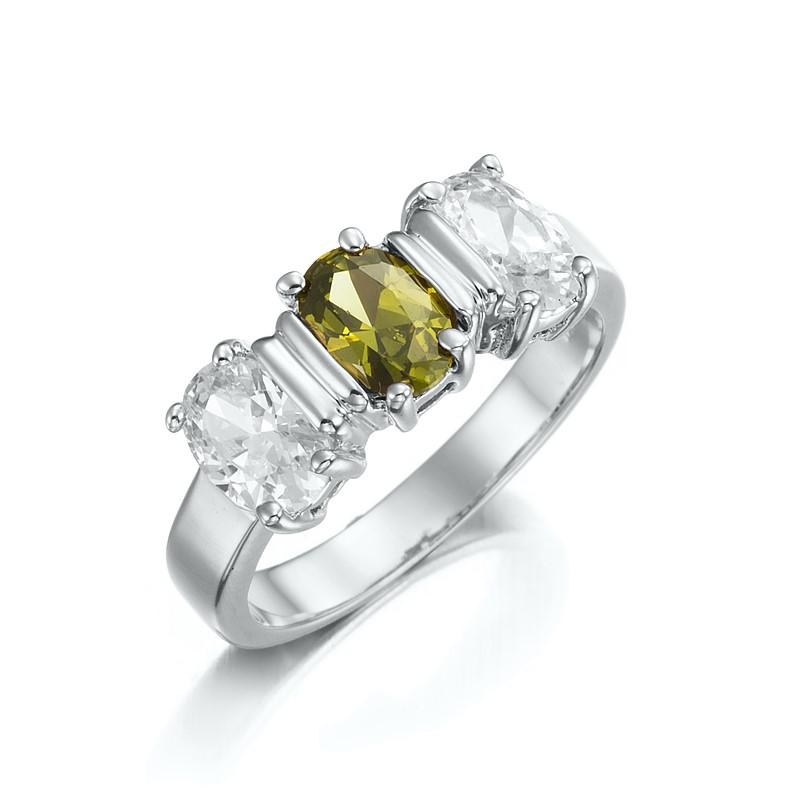 Stunning Rhodium Layered Pave Ring - US Size 8