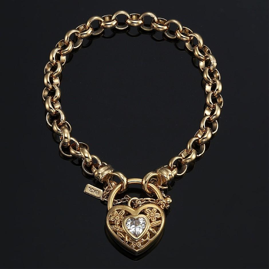 "18ct Yellow Gold Layered 7.5"" Belcher Chain Bracelet"