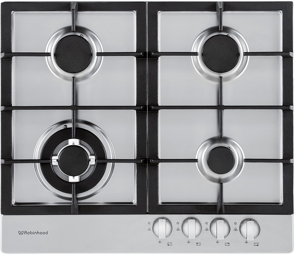 Robinhood 60cm Natural Gas Cooktop (HGA604FKSS) - ORP: $449