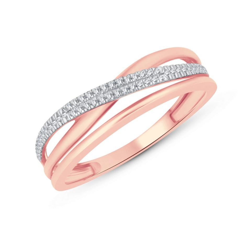 9ct Rose Gold, 0.08ct Diamond Ring