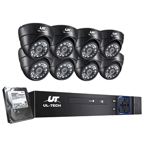 ULtech CCTV 8 Dome Home Security System