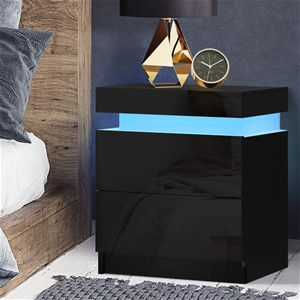 Artiss Bedside Tables Side Table RGB LED
