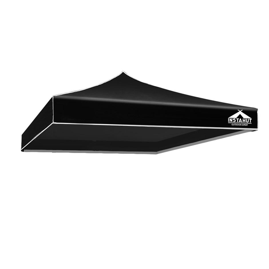 Instahut Gazebo 3x3 Pop Up Marquee Replacement Roof Outdoor Wedding Black