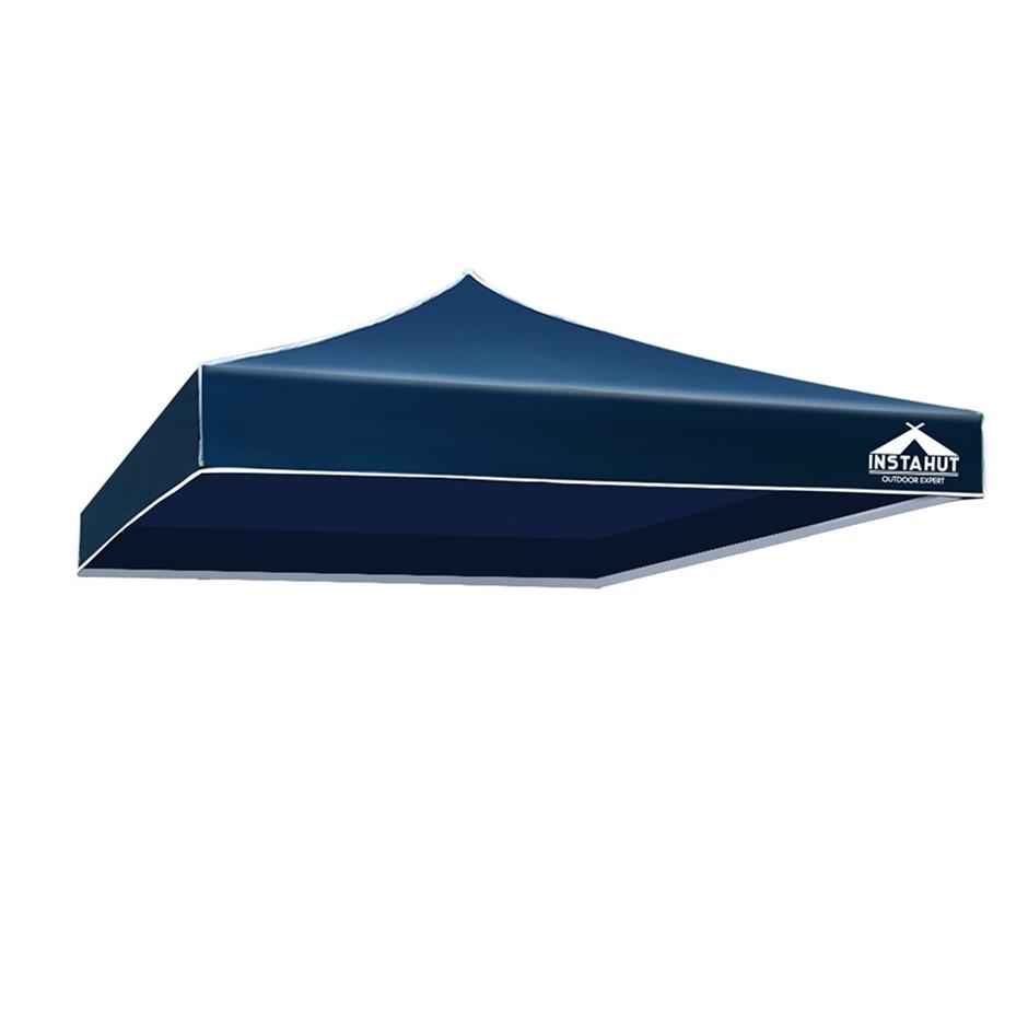 Instahut Gazebo 3x3 Pop Up Marquee Replacement Roof Outdoor Wedding Navy