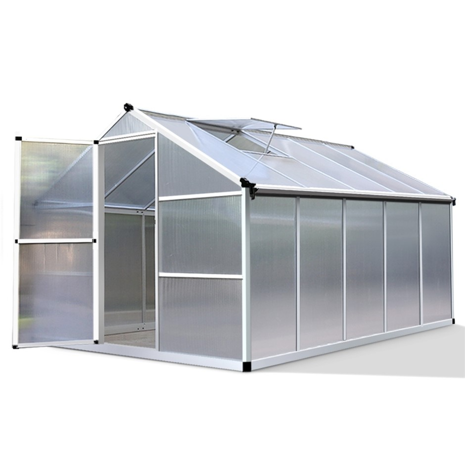 Green Fingers 3 x 2.5m Polycarbonate Aluminium Greenhouse