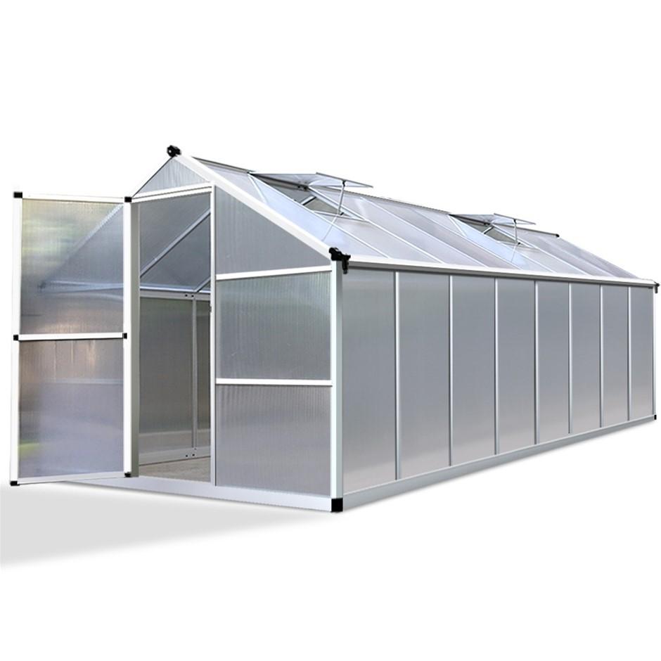 Green Fingers 4.8 x 2.5m Polycarbonate Aluminium Greenhouse