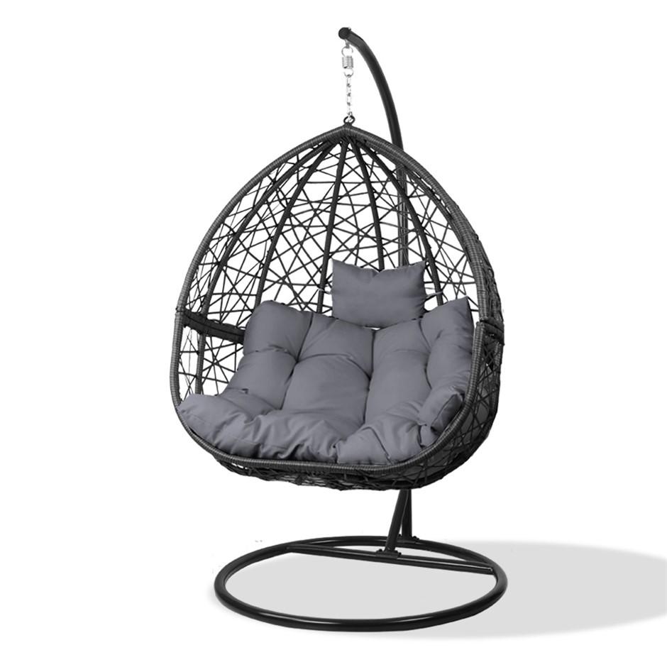 Gardeon Outdoor Hanging Swing Chair - Black