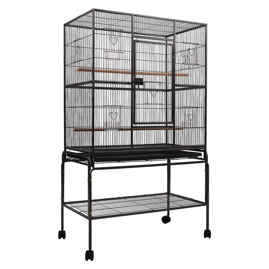 i.Pet Bird Cage Pet Cages Aviary 137CM Large Travel Stand Budgie Parrot Toy