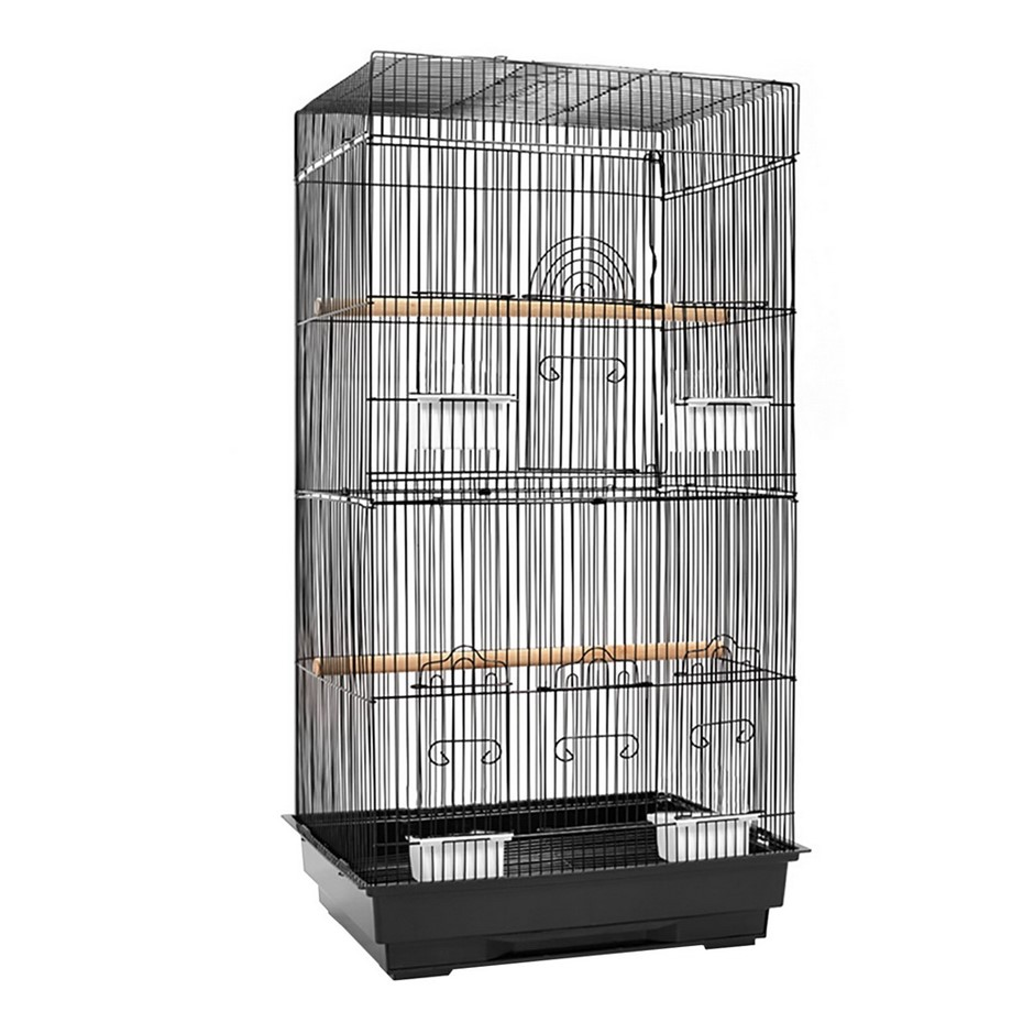 i.Pet Medium Bird Cage with Perch - Black