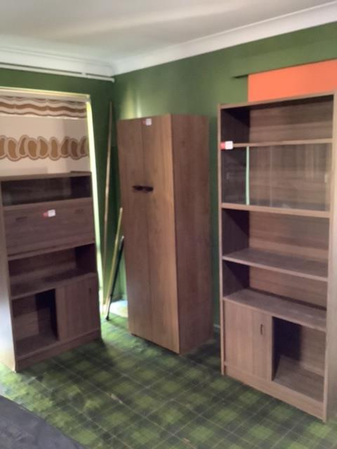 3 x Timber Look Cabinets