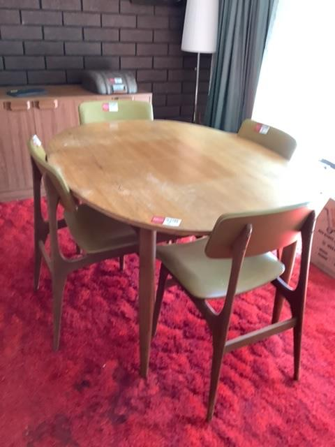 5 Piece Timber Vainer Dining Setting