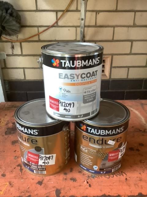 Assorted Taubamns 4lt Paint