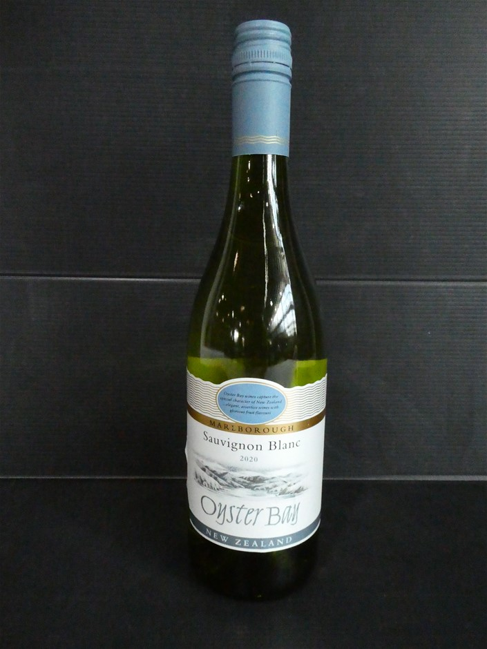 Crate of Oyster Bay Sauvignon Blanc Wine