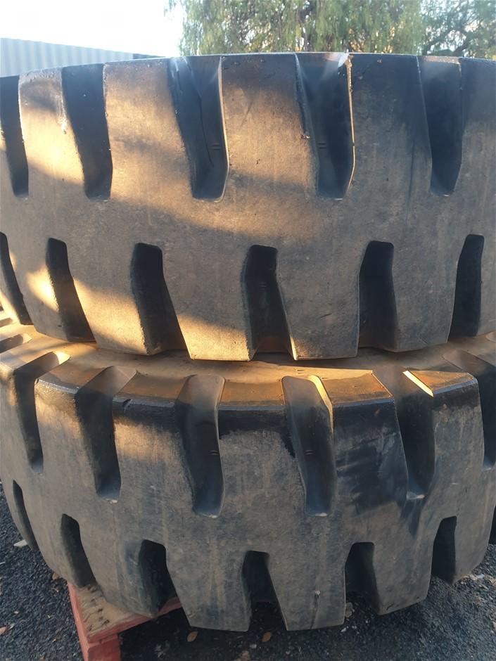 2x Unused Machinery Tyres