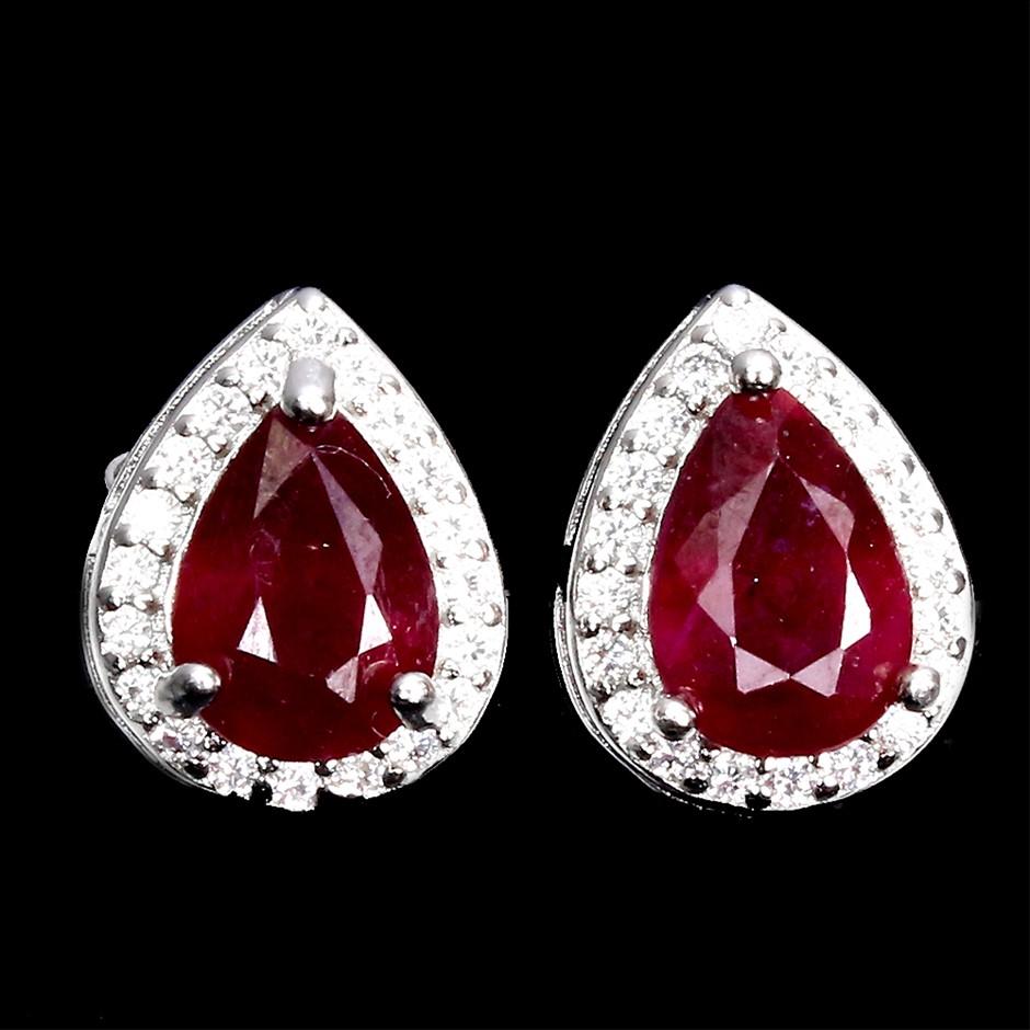 Delightful Genuine Ruby Earrings.