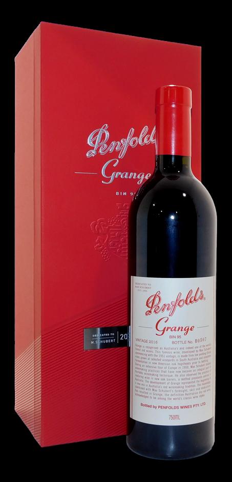 Penfolds Bin 95 Grange 2016 (1x 750mL, Boxed), SA