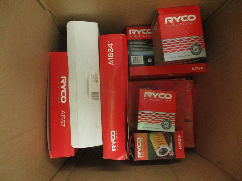 Box of Assorted Ryco Filters