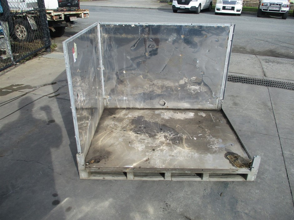 2 Sided Metal Pallet Container