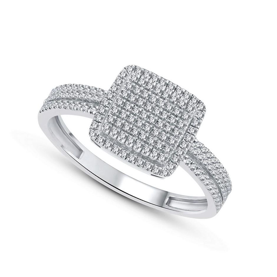 9ct White Gold, 0.23ct Diamond Ring