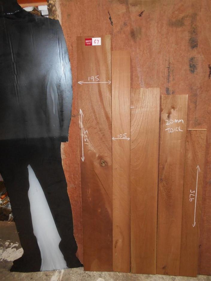 Assorted timber / furniture board pack (5 boards) - Australian Red Cedar