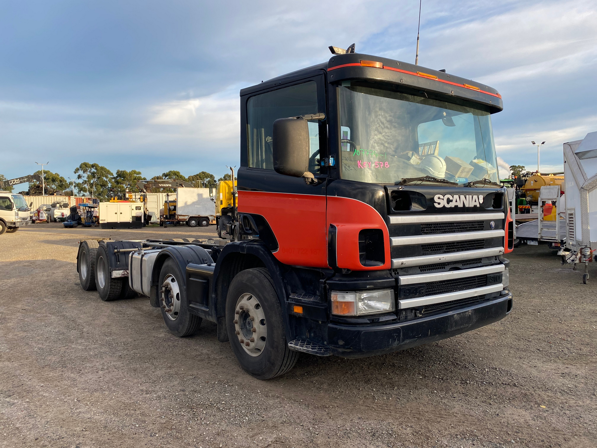 2002 Scania 94G 8 x 4 Cab Chassis Truck