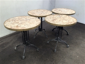4 x Round Cafe Tables