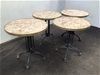 <p>4 x Round Cafe Tables</p>