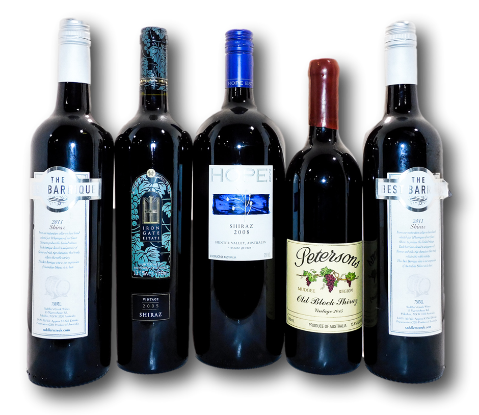 Mixed Pack of New South Wales Shiraz (5x 750mL), NSW