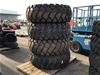 <p>4 x Forcestone 23.5-25 Machine Tyres on 12 Stud Rims</p>