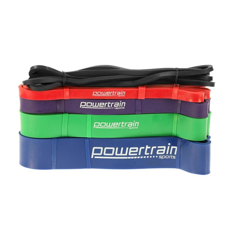 5x Powertrain Home Workout Resistance Bands Gym Exercise