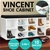 Shoe Rack Cabinet Organiser Black Cushion - 104 x 30 x 48 - White