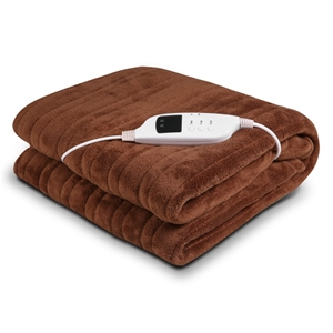 Heated Electric Blanket Throw Rug Coral