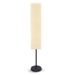 Metal Floor Lamp with White Paper Wrinkl