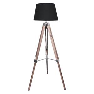 Timber Tripod Floor Lamp Shade Adjustabl
