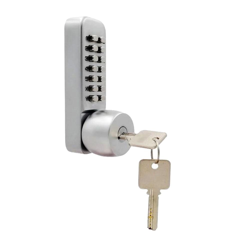 Push Button Digital Mechanical Combination Security Door Lock Chrome