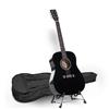 Karrera 41in Acoustic Wooden Guitar with Bag - Black