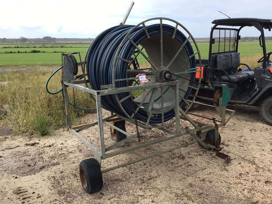 Hard Hose Irrigator and Belllow Drive