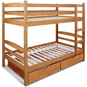 Buy Twin Over Twin Bunk Bed Solid Timber With Drawers Ladder