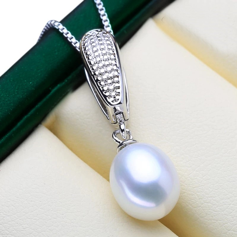 Genuine Freshwater Pearl Drop Necklace (White) - WITH JEWELLERY BOX