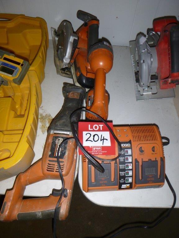 Assorted Ridgid Power Tools